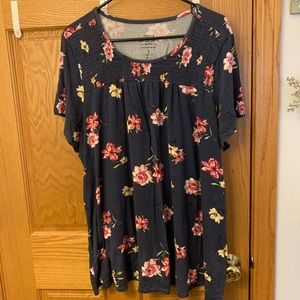 Floral baby doll tee